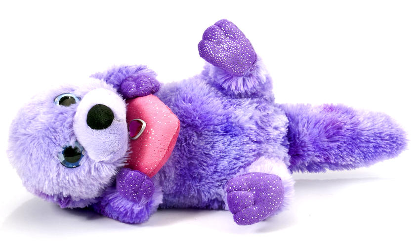 Sweet Sassy 12 Colorful Purple Sea Otter Stuffed Animal Each