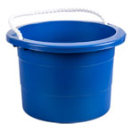 2.5 Gallon Multipurpose Rope Handled Blue Bucket/Pail, Plastic, Each
