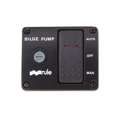RULE® 3-Way Lighted Bilge Pump Switch W/Fuse, Rocker Style, Auto-Off ...