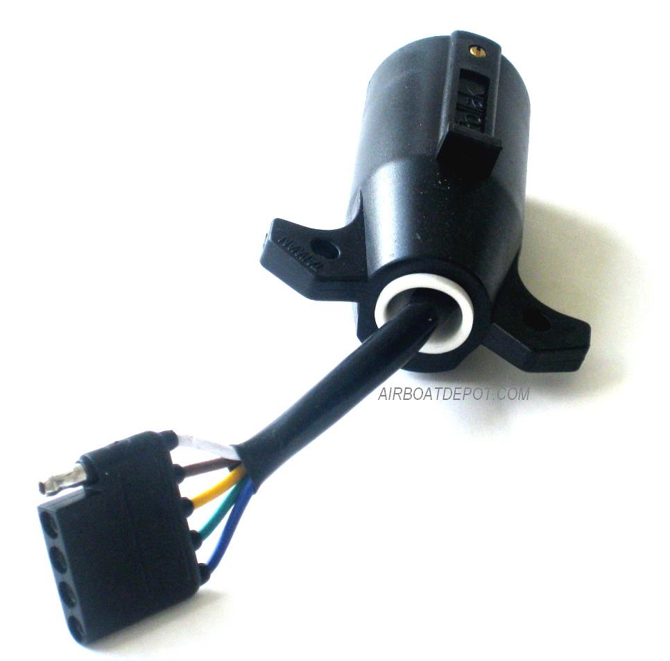 POLLAK® 12-718 EZ Trailer Adapter 7-Way Blade To 5-Way Flat