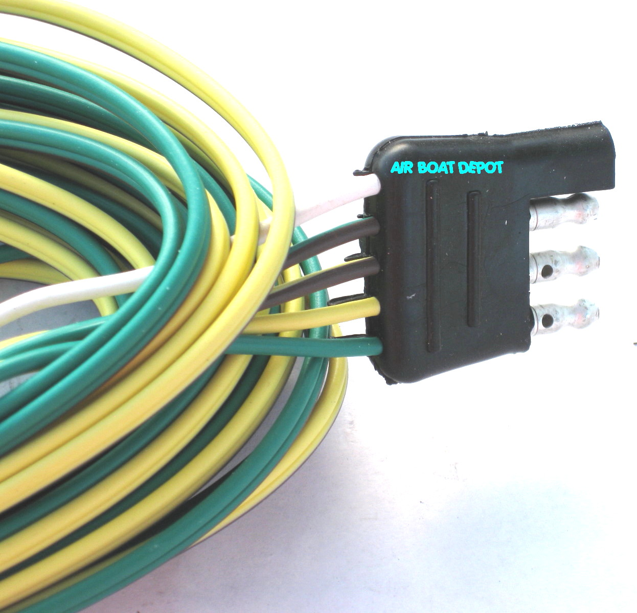 T WB25 WESBAR TRAILER WIRE HARNESS 4 WAY FLAT 25 WISHBONE 25 wesbar� wishbone trailer wiring harness 4 way flat 18 ga, 25 wesbar trailer connector wiring diagram at webbmarketing.co