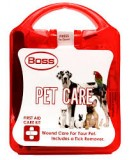 BOSS® 1006 Pet Care First Aid Care Kit, Plastic Tote & 12 Pieces, Each