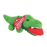 "Valentine Alligator 5"" Plush Toy With To & From Tag, Reads: ""Have A Snappy Valentine's Day"" With Toothmarks Punched Out, Polyester, Each"