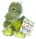 "BUDDIES 10"" Alligator with Toothache Stuffed Animal, Includes ""Thinking of You Greeting Card"" & Toothache Bandage, Each"