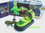 E-TEAM™ X BOGGY SWAMP RESCUE AIRBOAT TOY 5 PIECE SET