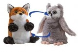 SWITCH-A-ROOZ 2-in-1 Turn Them Inside Out, Sly Fox & Screech Owl Stuffed Animal, Each