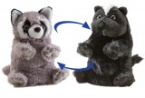 SWITCH-A-ROOZ 2-in-1 Turn Them Inside Out, Bandit Raccoon & Blooms Skunk Stuffed Animal, Each