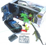 E-TEAM™ X DINO ZIPLINE ADVENTURE AIRBOAT TOY 7 PC SET