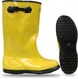 "BOSS® 2KP4481 Yellow Rubber Slush Over the Shoe 16"" Knee-High Heavy Duty Waterproof Boots, Fabric Lined, Top Strap & Buckle, Available in Men's Sizes: 07-18, 1 Pair"