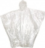 "BOSS® Clear 4mm Sports Hooded Rain Poncho w/Sealed Side Seams, 52"" x 80"", One Size Fits All (Tour Ride Customers May Need One)"