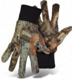 BOSS® TRAIL WISE® 4203AT Camouflage Advantage Timber® Multi Use Gloves, Polyester/Cotton Blend W/ PVC Dotted Palm, Extra Large Knit Wrist, Available Sizes: L, Price Per Pair