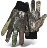 BOSS® TRAIL WISE® 4203MO Camouflage Mossy Oak® Multi Use Gloves, Polyester/Cotton Blend W/ PVC Dotted Palm, Extra Large Knit Wrist, Available Sizes: L, Price Per Pair