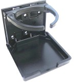 DH2B Adjustable Folding Universal Drink Holder, Black, Each