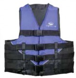 "Youth 50-90 Lbs., Deluxe Foam Vest, Blue, Type 2 USCG Approved, Chest Size: 24""-29"""