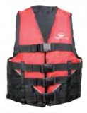"Youth 50-90 Lbs., Deluxe Foam Vest, Red, Type 2 USCG Approved, Chest Size: 24""-29"""