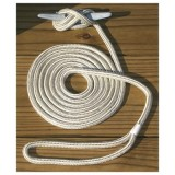 "BOATER SPORTS® 3/8"" X 15' Double Braided Nylon Dock Rope, Pre-Spliced For 12"" Eye, Gold & White Striped, Each"