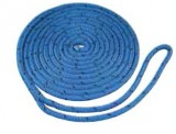 "1/2"" X 25' BLUE MFP DOUBLE BRAIDED DOCKLINE ROPE PRE-SPLICED FOR 12"" EYE, EACH"
