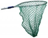 "SWOBBIT® SYSTEM SW66680 17"" x 30"" Pear-Shaped Landing Net w/Treated Nylon Netting, Light Duty Use, Aluminum, For Use W/Perfect Pole, Each"