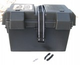NOCO® LARGE MARINE BATTERY BOX, HD, Black, Snap Top, Adjustable, w/ Strap, Top Covered Vents, Fits Groups 24-31 Battery Series, Each