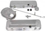 "RPC® R3027 ""Short"" Chrome Steel Engine Dress-Up Kit Fits BB V8 Chevy 396-502 C.I.D. (65-95)"