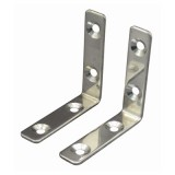 "90º Stainless Steel Angle Bracket, 2-3/8""L x 9/16""W, 2 Per Pack"