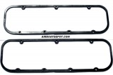 "RPC® R7485 Black NBR Rubber Valve Cover Gaskets W/Steel Core 3/16"" Thick For BB Chevy 396-502 (65-85), Price Per Set of 2"
