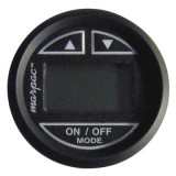 MARPAC® Black W/Black Bezel Premier In-Dash Digital Depth Sender-Sounder / Transom Mount Transducer