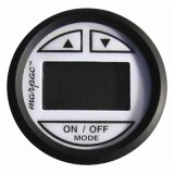 MARPAC® White W/Black Bezel Premier In-Dash Digital Depth Sender-Sounder / Transom Mount Transducer