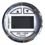 MARPAC® White W/Stainless Steel Bezel Premier In-Dash Digital Depth Sender-Sounder / Transom Mount Transducer
