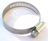"IDEAL TRIDON® SAE # 28 HD All Stainless Steel 1-1/4"" to 2-1/4"" / 32-57mm Radiator Hose Clamp, Price Per 2"