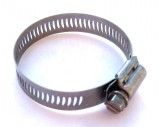 "BREEZE® SAE #28 Hose Clamp 1-5/16"" to 2-1/4"" All Stainless Steel #300 Marine Series, Price Per 2"