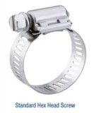 "BREEZE® SAE #16 All Stainless Steel 13/16"" to 1-1/2"" Hose Clamp #300 SS Series, Price Per 2"