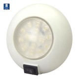 "TH MARINE® 51829  4"" Lens Dia. 15 LEDs Dome Light, Epoxy, On/Off Rocker Switch, Interior/Exterior Surface Mount, Each"