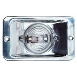 7-0861 Transom Light, Polished Stainless Steel, Clear Lens, 12 Volt, Each
