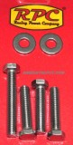 RPC® Water Pump Polished Stainless Steel Bolt & Washer Kit, Fits SB Chevy SWP, Price Per Kit