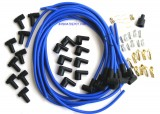 Spark Plug Wire Set, Blue, Boot/Plugs, 8.5mm 90º, Rated at 600ºF, Universal For Most American V8 Vehicles, Price Per Set