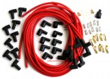 Spark Plug Wire Set, Red, Boot/Plugs, 8.5mm 90º, Rated at 600ºF, Universal For Most American V8 Vehicles, Price Per Set