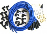 Spark Plug Wire Set, Blue, Boot/Plugs, 8.5mm 180º, Rated at 600ºF, Universal For Most American V8 Vehicles, Price Per Set