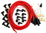 Spark Plug Wire Set, Red, Boot/Plugs, 8.5mm 180º, Rated at 600ºF, Universal For Most American V8 Vehicles, Price Per Set