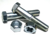 "9/16"" X 3"" HEX Bolts W/Nuts C/S GR 5 Zinc Plated For Trailer Spring Hanger Brackets & Shackles with 9/16"" Holes (2 Per Pack)"