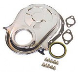 RPC® R4935 Chrome Timing Chain Cover Set, W/Seal, Gaskets & Bolts, BB Chevy 396-454 C.I.D.