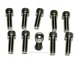 "SCX04-075 Stainless Steel Timing Chain Cover Bolts 1/4"" -20 x 3/4"" Allen Head For Aluminum Covers, SB or BB Chevy  (10 Per Bag)"