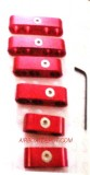 RPC® R9570 Red Pro Race Style Billet Wire Separator Set, Anodized Aluminum W/Allen Wrench, Price Per Set of 6 Pcs