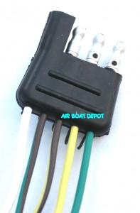 wb 25 wesbar® wishbone trailer wiring harness 4 way flat 18  male trailer wiring harness #15